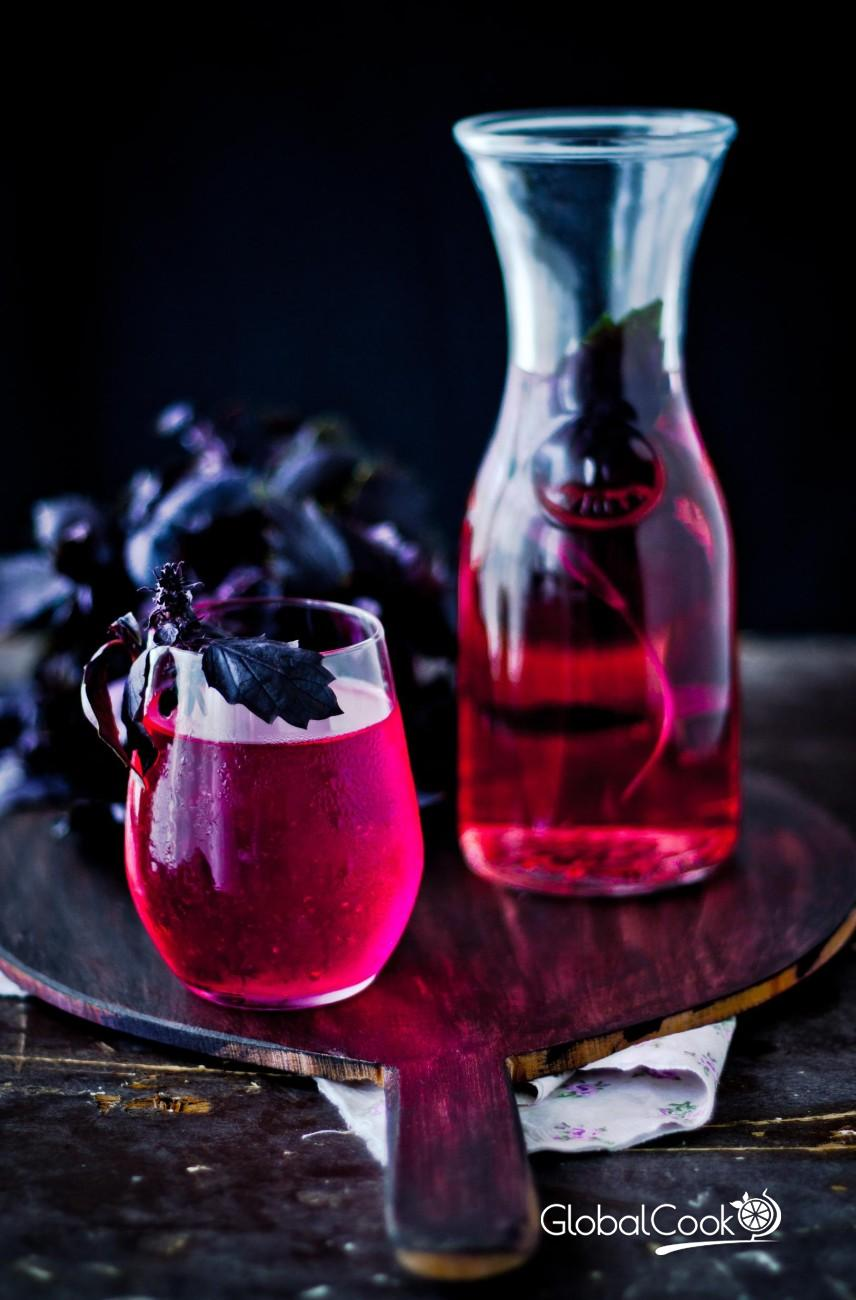Лимонад из фиолетового базилика ( Рейхан щербети)