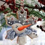 Снежинка из печенья