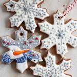 Новогоднее печенье  снежинки