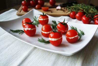 фаршированные помидорки чери
