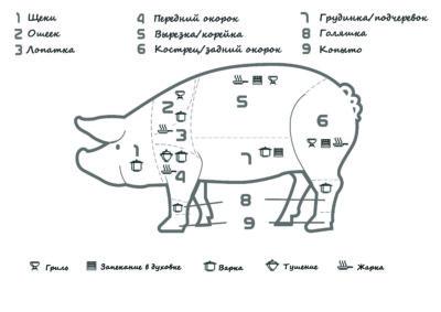 как правильно готовить различные части свинины